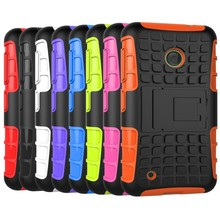 For nokia Lumia 530 Rock M-1018 RM-10 cases Hard Cover Heavy Duty Armor Hybrid Rugged Rubber Silicone Stand Phone Case (<