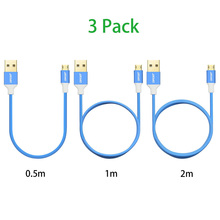 3 Pack (0.5M/1M/2M) Reversible Micro USB Cable Fast Charging Data Sync Cables Cord Android Phone Cable for Samsung S4 S6,LG,,HTC