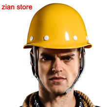 Frp Safety Helmet hitting proof safety Construction site safety yellow protective helmet anti shock smashing fashion free print(China)