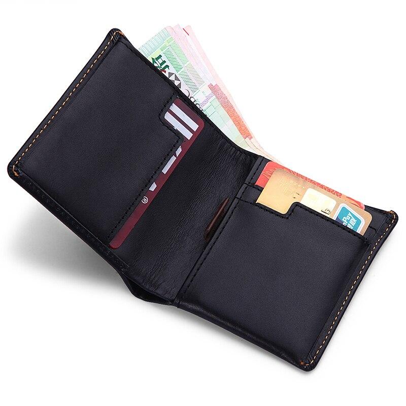 Modern - New 2016 Luxury Brand Genuine Leather Super Slim Men Wallets Money Organizer Wallet Clutch Women Fashion Designer<br>