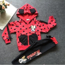 Baby girls clothing sets cartoon minnie mouse 2016 winter children's wear cotton casual tracksuits kids clothes sports suit hot(China)