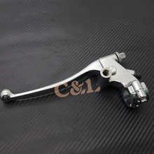 New 7/8''22mm Left Universal Handlebars Motorcycle Brake Cable Clutch Lever For Honda Yamaha Suzuki(China)