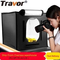 Travor F40 светодиодный складной софтбокс для фотостудии лайтбокс 40*40 осветительный тент софтбокс с белого и желтого цвета черный аксессуары дл...