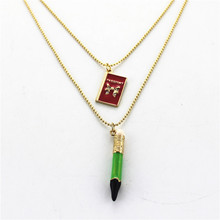 XQ Free shipping 2015 BJ new green pencil necklace earrings bracelet Gifts for girls