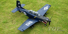 TOPRC RC plane toy Mini T-34 warbird PNP blue color