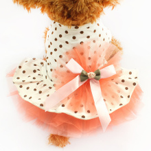 Armi store Super Cute Fluffy Dot Gauze Dog Dresses Princess  Skirt For Dogs 6071001 Pet Spring And Summer Dog Clothes
