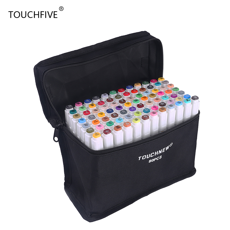Touchfive 168 Colors Art Marker Set Alcohol Based brush pen liner Sketch Copic Markers touch twin Drawing manga art supplies(China (Mainland))