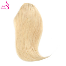 Real Beauty Human Hair Clip in Indian Remy Fringe Black Straight Blonde Bnags 12 inches 20 grams Fringe Hair Straight Hair Clip