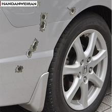 1PCS 14cm*10cm bullet hole Car Stickers super cool Simulation of bullet holes Car styling car decoration+(China)