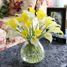 Luyue 15pcs/lot Artificial Calla lily PVC Real Touch Bride Bouquet Flower Home Wedding Decor Flowers & Wreaths Mix Color(China)