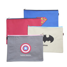 Kawaii Cartoon American Heroes Oxford File Folder Cute A4 Document Filing Bag Office Stationery Filing Products