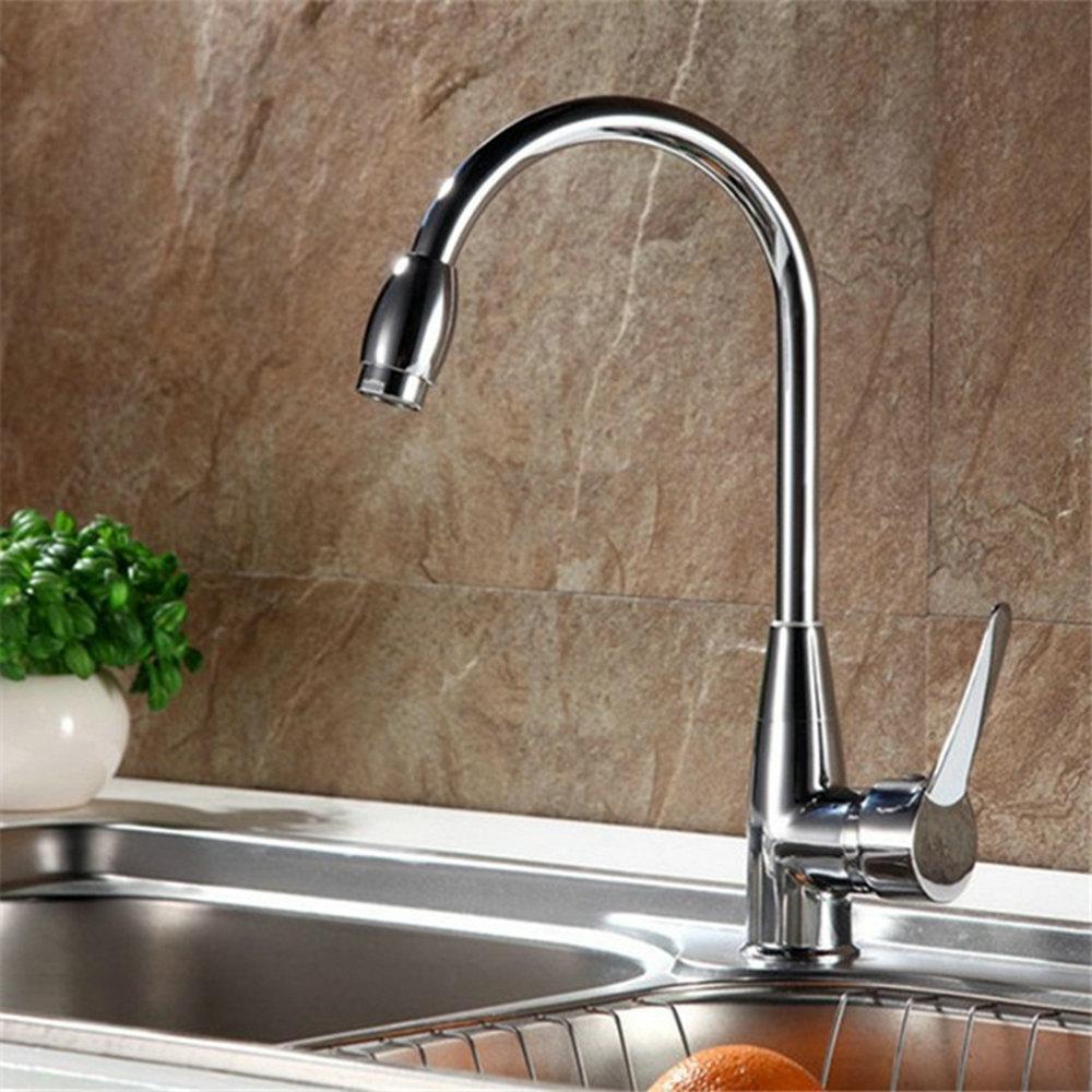 2018 360 Swivel Kitchen Basin Sink Mixer Tap Fashionable Chrome ...