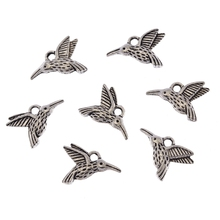 DIY Vintage Alloy Tibetan Silver Long Mouth Bird Charm Pendant Jewelry Findings Making 20pcs Crafts 17X12mm Ne163