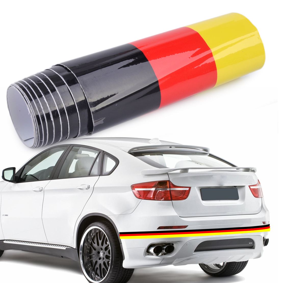 1.5M DIY Germany Flag Sticker Car Auto Hood Body Roof Bumper Decal Stripe Decor Fit Mercedes Mazda VW Audi Kia Toyota BMW