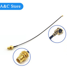 free shipping Extension Cord UFL to RP SMA Connector Antenna WiFi Pigtail Cable IPX to RP-SMA Jack Male SMA to IPX for antennna