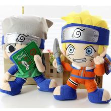 "2pcs 12"" Naruto Plush Toys Naruto Uzumaki Naruto & Hatake Kakashi Plush Dolls Stuffed Plush Toys Doll Figure Toy for Kids Gifts(China)"