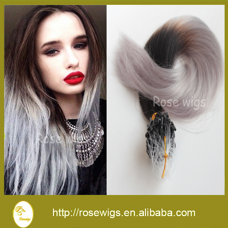 Fasion Brazilian Human Hair Remy Micro Loop Ring Black brown in stock Straight style micro ring hair extension 1g/strand<br><br>Aliexpress