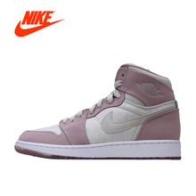New Arrival Authentic Nike Jordan 1 Retro High GS AJ1 Women's Breathable Basketball Shoes Sports Sneakers(China)