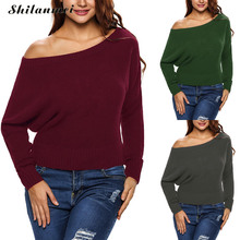 women sweaters christmas pullover winter strapless ladies knitwear knitted jumpers trui dames kazak bayan sueter mujer sudaderas