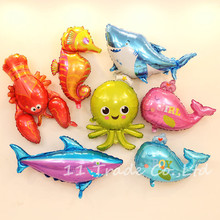 1 Piece aluminum balloon Octopus, shark, lobster, whale,dolphin fish balloon for birthday party decorations kids Toys balon pet(China)