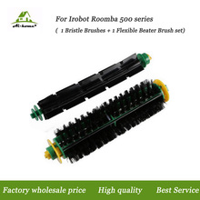 Aihome Accessory Kit Bristle +Flexible Beater Brushes for iRobot Roomba 500 Series 527 528 530 532 535 540 555 560 562 Vacuums