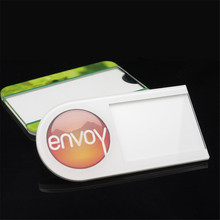 10pc/lot 70*20mm Wholesale Custom changeable acrylic material color printed changeable security pin name badge with you own logo(China)