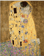 gustav klimt kiss painting gifts DIY handmade painting by numbers abstract drawing coloring by numbers on canvas no frame(China)