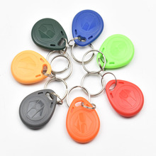 10pcs/lot  125Khz RFID Tag Proximity Keyfobs Ring Access Control Card 8 Colour for Access Control Time Attendance