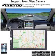 Vehemo DC 12V 2 Din HD Car Radio Touch Screen GPS AM Multimedia WiFi For Android5.1 Bluetooth Play 7 Inch High-definition MP5(China)