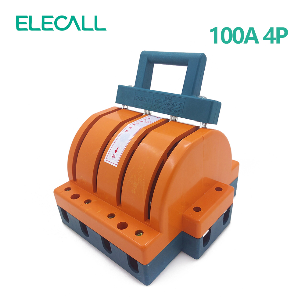 Wholesale  Heavy Duty  100A Four Poles Double Throw Knife Disconnect Switch Delivered Safety Knife Blade Switches<br>
