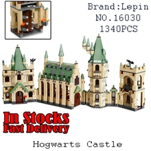 New Lepin 16030 The Hogwarts Castle 1340pcs Creative Movies Building Block Bricks Compatible 4842 Educational Toy for children(China)