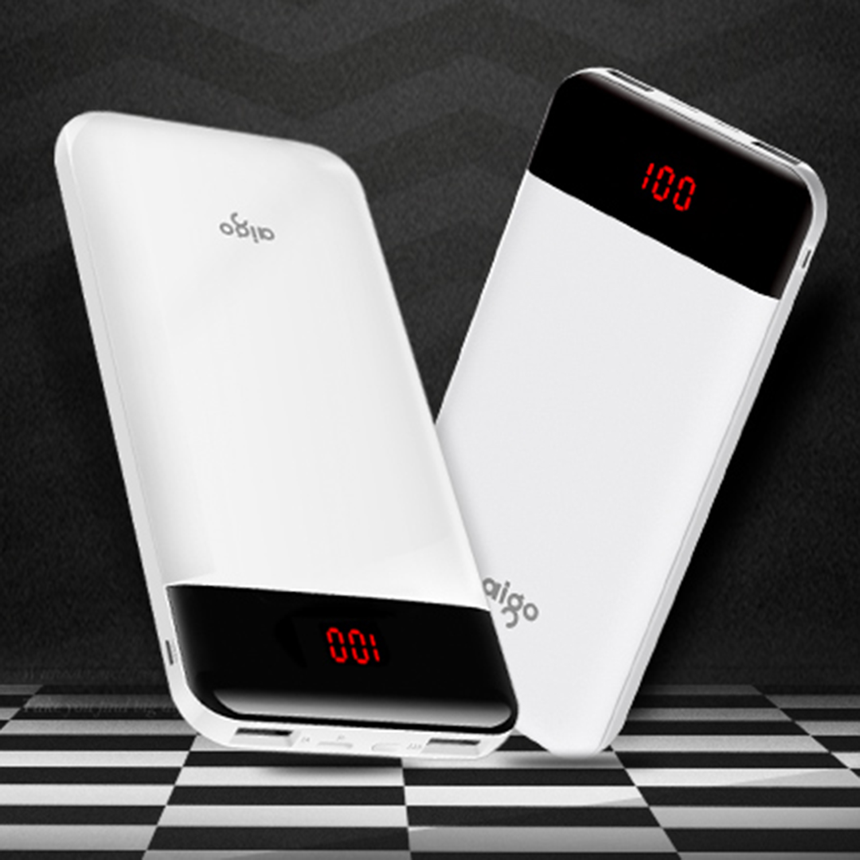 Aigo D20000 Pover Bank 30000mAh Large Capacity Power Bank Dual USB Input Port Charger External Battery Pack Mobile Phone