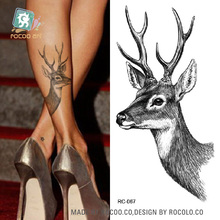 RC Waterproof Temporary Tattoo Stickers Deer Design Cat Colorful Decor Water Transfer New Fashion Body Art Fake Tattoo tatuajes(China)