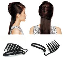 11CM Women DIY Formal Hair Styling Updo Bun Comb And Clip Tool Set For Hair Twist Maker Holder Headwear