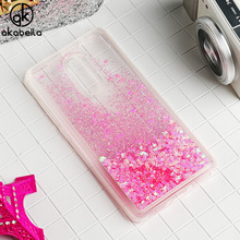 AKABEILA Glitter Liquid Soft TPU Case For Xiaomi Redmi Note 4X 4 X Note4X 3G/32G 4G/64G Redmi Note 5 Back Cover Phone Case Shell