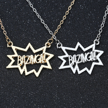 The BigBang Big Bang Theory Necklace BAZINGA TBBT Sheldon Cooper Leonard Hofstadter Fashion Pendant Movie Jewelry Wholesale