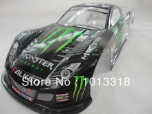 Ewellsold 049 1/10 Scale On-Road Drift Car Painted PVC Body Shell 190MM for 1/10 Radio controlled car 2pcs/lot free shipping