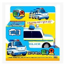 Tayo the little bus kids toys oyuncak mini white police coche model car tayo bus PET juguetes para ninos boys birthday gift(China)