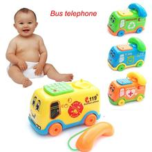 2017 Early education Baby Toys Music Cartoon Bus Phone jouet fille Educational Developmental Kids Toy Gift New toys for children