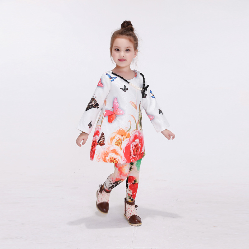 2017 Autumn And Winter Bow Cotton Christmas Fashion Girls Dress Holiday Party Wedding Toddler New Year High Quality Sunny <br><br>Aliexpress