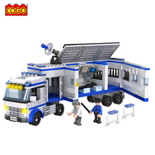 Cogo Building Blocks Police Station Model Bricks Kits 42Ninjago Playmobil Decool Duplo Diy Educational Toys Children - AN Block Store store