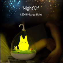 Lightme 3 Modes Baby Bedside LED Desk Lamp Rechargeable Adjustable Luminaria Touch Sensor Birdcage USB LED Night Light 2017 Hot(China)