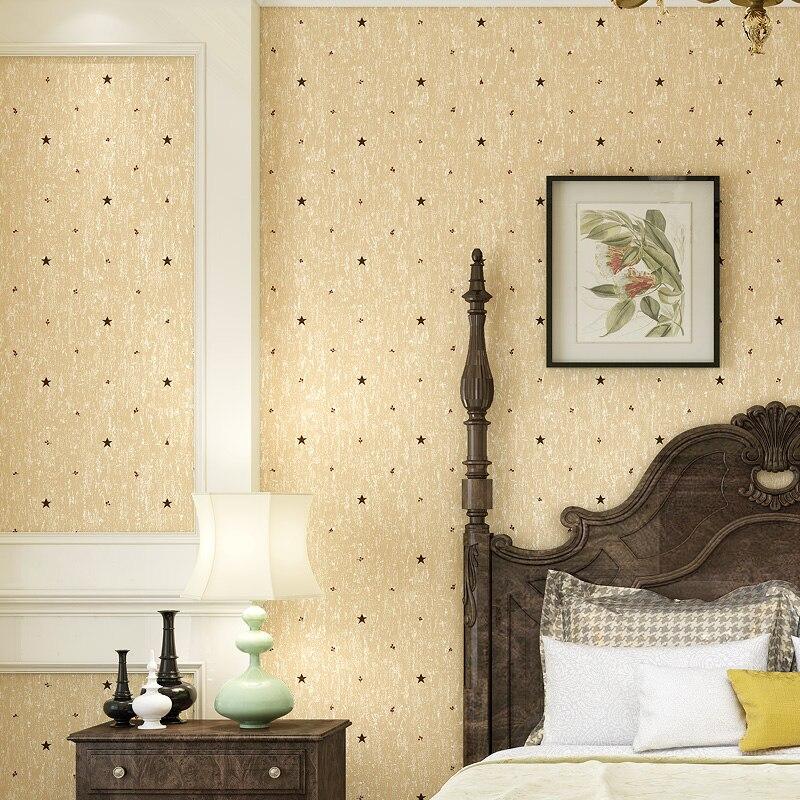 papier peint Modern Yellow Star Wallpaper for Walls Non Woven Wall Paper Bedroom Wallpapers Roll Kids Room 3d wall Wallpaper<br>
