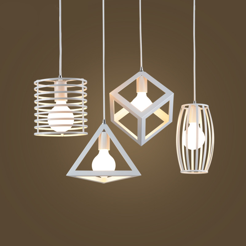 wrought iron simple modern pendant lamp with LED bulb  dinning room light cafe lamp E27 110v 220v free shipping<br>
