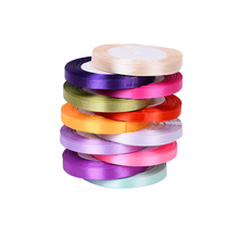 1CM Width Colorful Polyeser Ribbon 25Yard/lot Wedding Home Decoration Handmade Crafts DIY Accessories Gifts Wrap Ribbons(China)