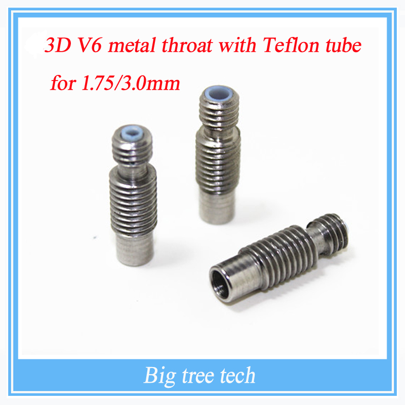 1PCS Stainless Steel 3D V6 Heat Break Hotend Throat with  Teflon Tube for 1.75 mm 3.00mm Filament 3d Printer Free Shipping !<br><br>Aliexpress