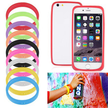 Universal Silicone Cell Mobile Phone Border Protection Cover Luminous Silicone Bracelet Case For iphone For Samsung For sony