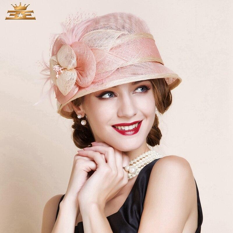 Fashion Pink Black Women Flower Sinamay Hat Dome Casual Fedora Sun Hat England Elegant Party Dress Bow Sinamay Beach Hat 2016<br><br>Aliexpress