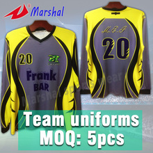 OEM Supply Long Sleeve Unisex Jerseys Sublimation Custom Your Club Soccer Wear(China)