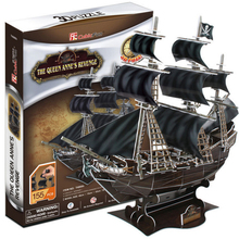 Development of intelligence,Educational toys,good quality,foam,emulational,gifts,paper model,queen revenge ship,3D PUZZLE